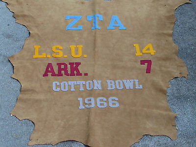 Awesome Unique 1966 Zta-Fraternity-Sorority Lsu-Arkansas Cotton Bowl Game Sign