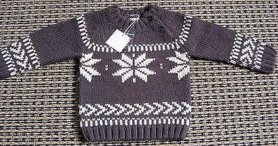 Miniman French Boys Wool Blend Jumper  Sz  12 Months New With Tags