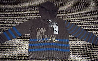 Confetti Absorba French Designer Boys Hooded Jumper  Sz  18 Months New With Tags