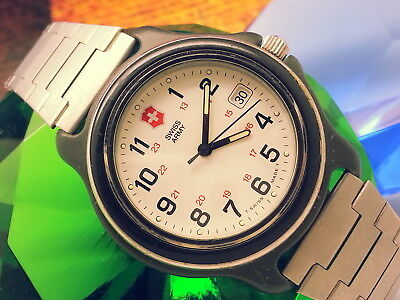 1978 Military 12Hr/24Hr Swiss-Army 330Ft Diver Date Feature Vintage Men's Watch