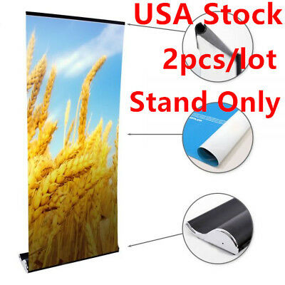 "2pcs*33"" W x 79"" H Whale Shape Good Quality Roll Up Banner Stand (Stand Only)"