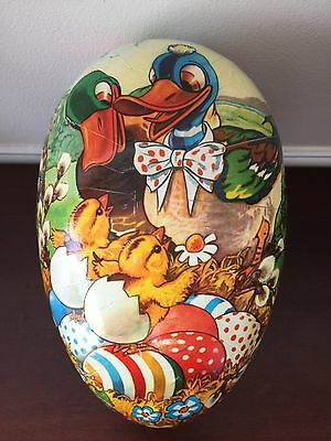 "West Germany Easter Paper Mache Eggs Candy Container Family of Ducks 9"" Vintage"