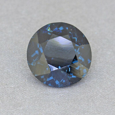 Natural Untreated RARE Round Cobalt Blue Spinel 1.39 Ct.(01177)