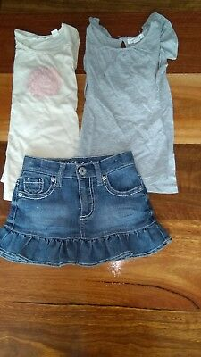 Country Road 2 girls tops & Guess denim skirt  (all size 4)