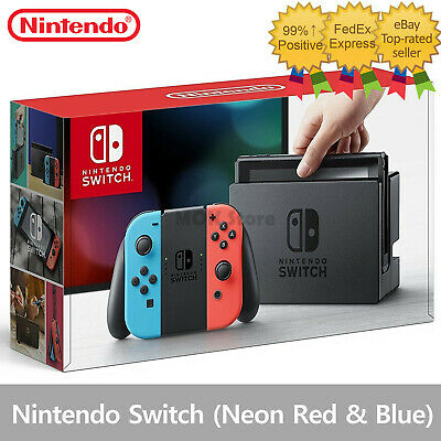 Nintendo Switch - 32GB Gray Console (with Neon Red/Neon Blue Joy-Con) Wireless