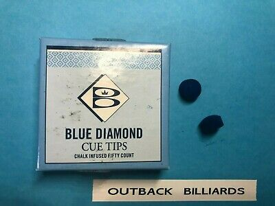 two (2) BLUE DIAMOND 10 MM usa AUTHENTIC POOL BILLIARD SNOOKER CUE TIPS