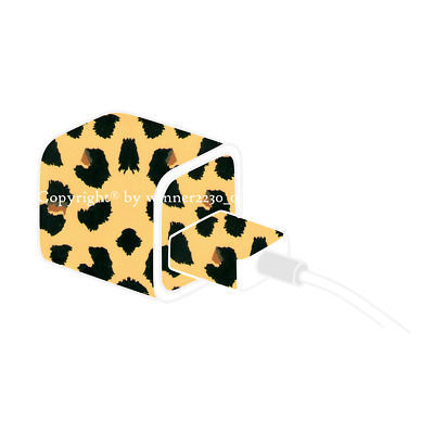 Premium Quality Leopard Pattern iPhone Charger USB Power Adapter Skin Sticker AU