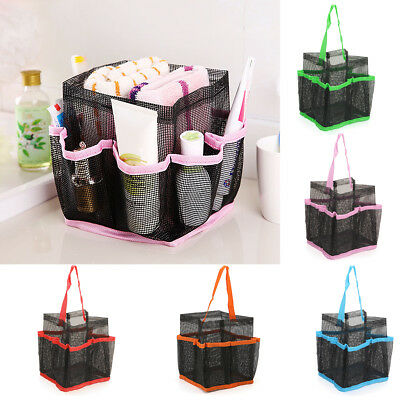 Hanging Storage Mesh Bag Toiletry Caddy Cosmetic Shower Organizer Pouch Tote