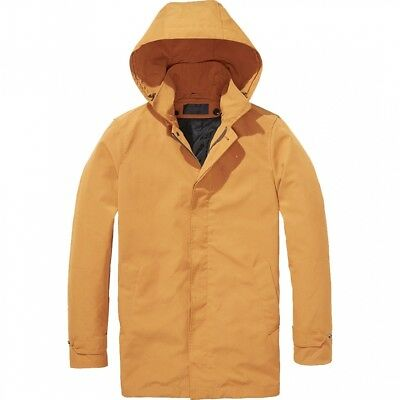 Men's Filling Hooded Down Parka Soda Scotch Trench Small Coat amp; gOwvq6