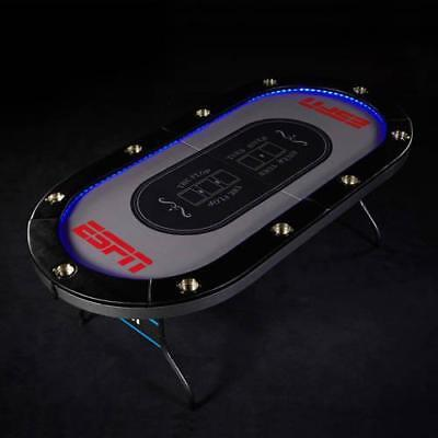 ESPN 10 Player Premium Poker Table With In-Laid Led Lights
