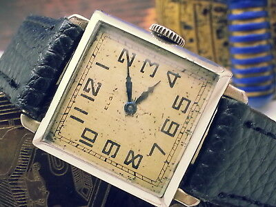 VINTAGE1940s ELGIN FAYES BRISTOL LADY ELGIN 14K (WHITE) GOLD-FILLED  MENS WATCH