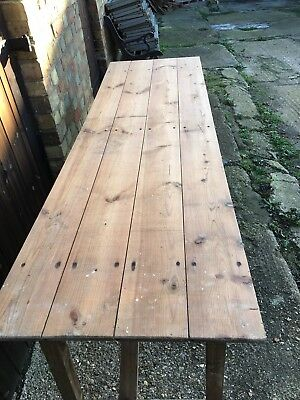 Old Architectural  Wooden Trestle Table
