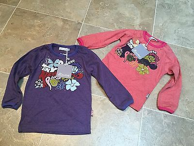 BNWT Minymo Pink or Purple 100% Cotton Top (age 9, 12, 18, 24 months )