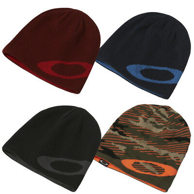 Oakley Mainline Lightweight Knitted Winter Reversible Hat Mens Beanie