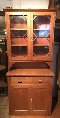 Stunning Stripped Oak Edwardian Dresser / Bookcase