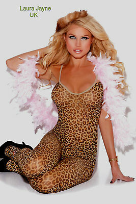 Leopard Print open Crotch Body Stocking         LC79798