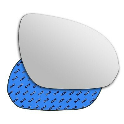 Right driver side Silver Wing mirror glass for Citroen C5 2001-2007