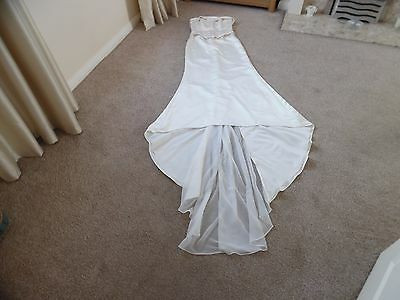 Ronald joyce basque/corset sequin satin look ivory wedding dress size 10/12