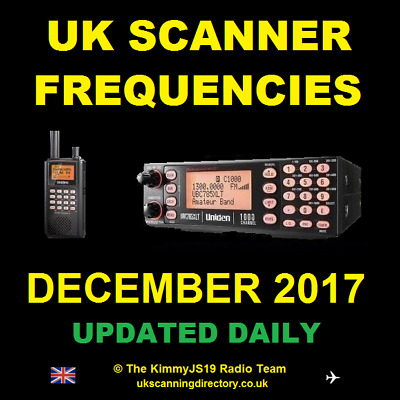 UK SCANNING DIRECTORY December 2017 - Scanner Frequencies CD (Updated Daily)