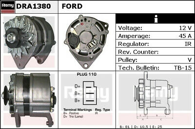 FORD GRANADA Mk1 Alternator 72 to 85 Remy Genuine Top Quality Replacement