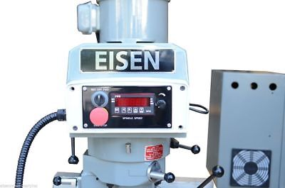 EISEN S-2AH-EVS 3HP Milling Head with Yaskawa VFD, R8 taper, for Bridgeport mill