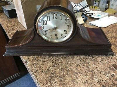 Seth Thomas Westminster Chime Clock Mantle Table Shelf 124 Movement