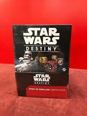Star Wars Destiny Spirit of Rebellion Booster Box. Sealed, In hand.