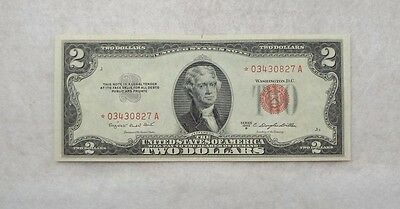 Series of 1953-B*STAR Red Seal $2 Legal Tender US Note ALMOST UNC Fr#1511*