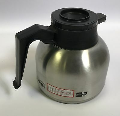 BUNN Stainless Steel 1.9 L Thermal Coffee Carafe w/ Lid 40163.0000  9566