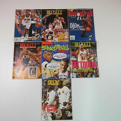 Beckett Basketball Card Monthly Magazines 1994, 1996, 1997 Lot of 7