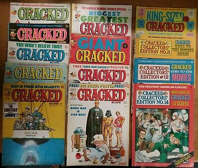 Lot of 13 Vintage Cracked Magazines, 70's & 80's 7 Regular & 6 Special Issues