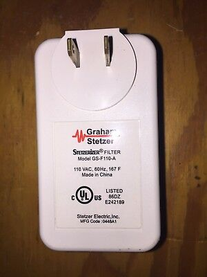 1pc Graham Stetzer Filter - Dirty Electricity RF Line Noise Reducer & Supressor
