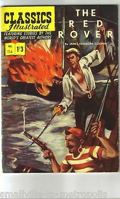 Classics Illustrated #114 The RED ROVER JF Cooper. Rare UK (Polish-p) 1/3d 1960!