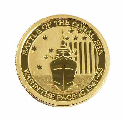 2014 - 1/10oz Gold Australian Coral Sea .9999 BU