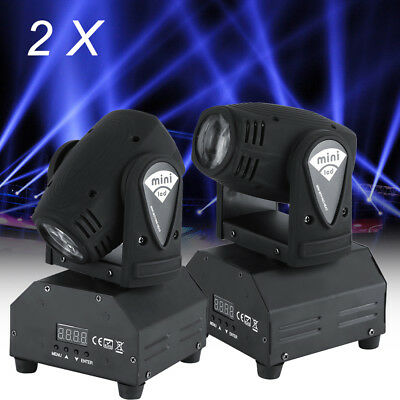 2 x 50W LED Moving Head Bühnenbeleuchtung DMX 4 in 1 RGBW Lichteffekt Disco Pub