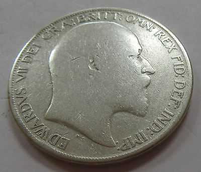 1902 Great Britain Silver One Crown Low Mintage Coin KM #803