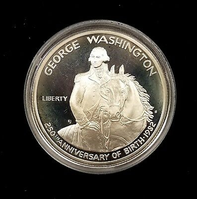 1982 S Proof George Washington Commemorative Silver Half Dollar in capsule!