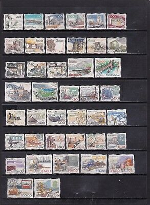 Portugal Large Definitive Stamp Selection with Phosphors 3 SCANS (Po15111)