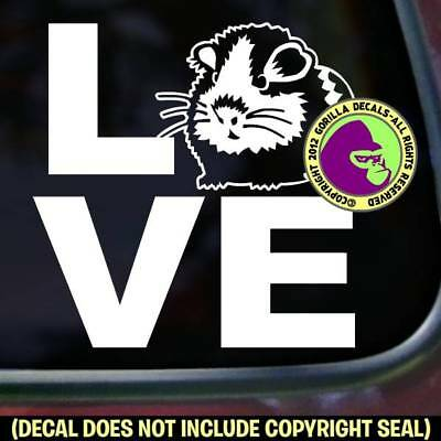 LOVE Word GUINEA PIG Vinyl Decal Sticker Cavy Pet Pigs Love Car Window Wall Sign