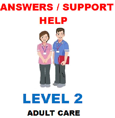NVQ Health and Social Care diploma Level 2. ALL 9 Mandatory units HELP & ANSWERS