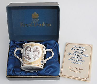 Ltd Ed Boxed Royal Doulton Loving Cup - Prince Charles & Diana - with Papers