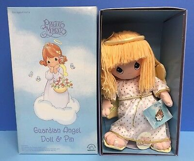 Precious Moments Guardian Angel Doll & Pin by Applause ~ Brand New in Box!