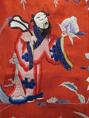 China Chinese Silk Embroidery Qing Republican Daoist Taoist Immortal Hanging yqz