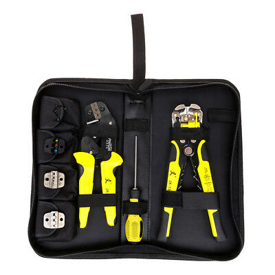 Industrial Professional Multifunction Wire Stripper Cutters Kit Crimping Tool