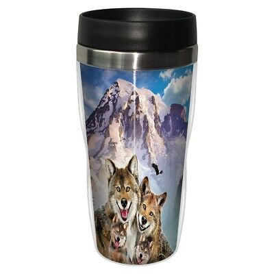 Tree Free Mug 47cl (16 ounce) Travel Tumbler Wolf Family