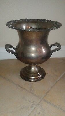 Attractive Vintage Silver Plated Champagne Bucket Grapevine Motif Wine