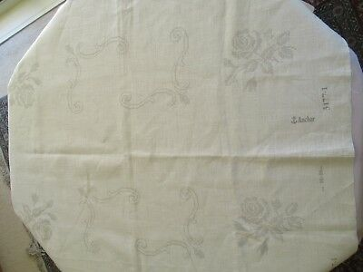 ANCHOR Linen pre-printed Cross Stitch fabric to make 2 large matching tablemats