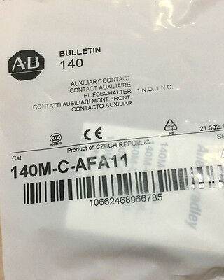 Allen Bradley Auxiliary Contact 140M-C-AFA11 Ser A. Lot of 10 (4 lots avail.)
