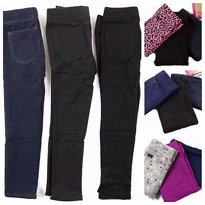 Lot of 3 Pair Girls Lee Jeggings French Terry Variety Sizes and colors