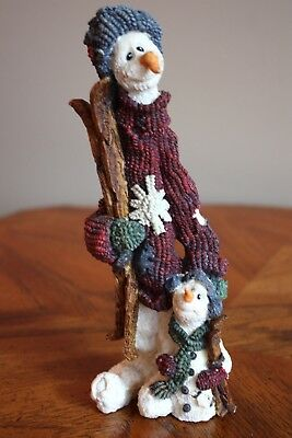 "Boyd's Bears Folkstone ""JEAN CLAUDE & JACQUES. . .THE SKIERS ""~ SNOWMEN ~MIB1994"